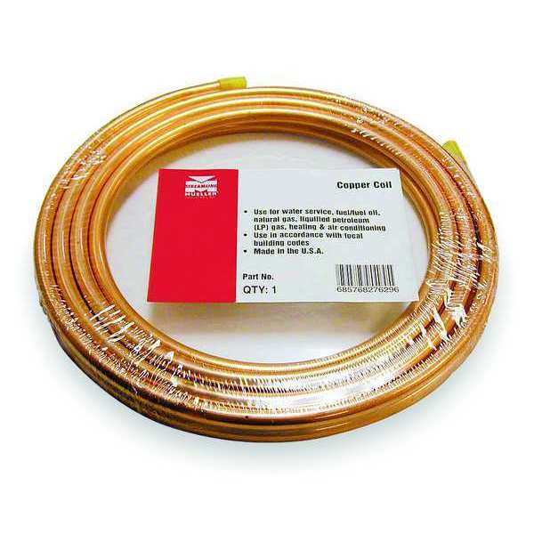 "Mueller Industries 5/16"" OD x 50 ft. Coil Copper Tubing Type ACR 654R"