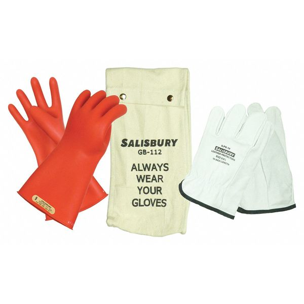 Salisbury Electrical Glove Kit,  Class 00,  Sz 7,  PR,  Color: Red GK0011R/7