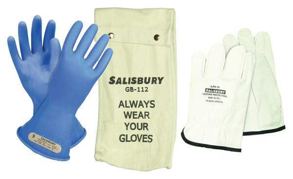 Salisbury Electrical Glove Kit, Class 00, Sz 8, PR GK0011BL/8