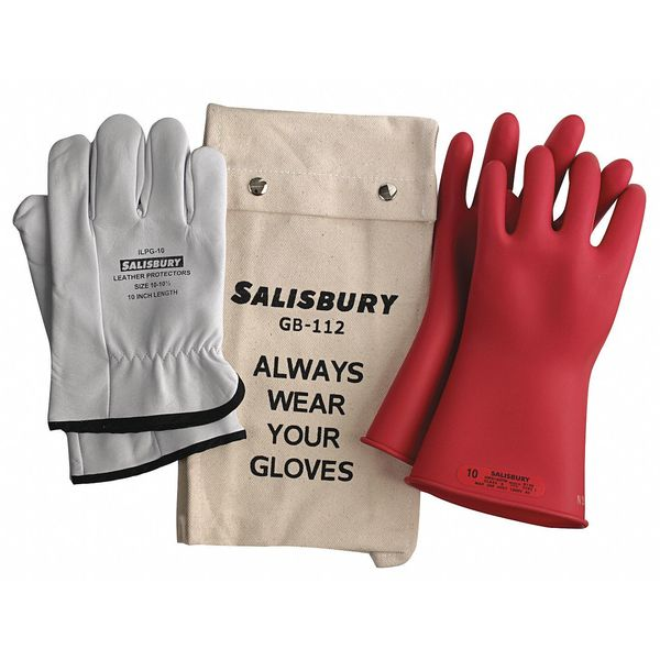 Salisbury Electrical Glove Kit, Class 0, Red, Sz 9, PR GK011R/9