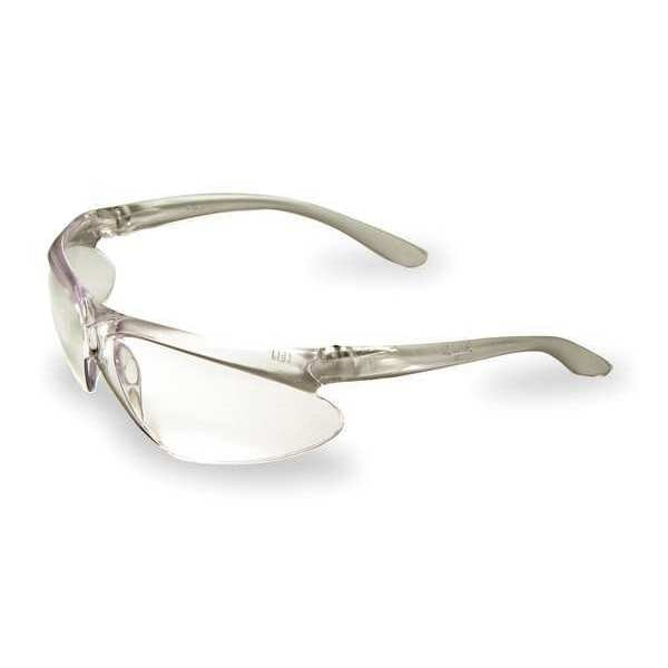 Honeywell Uvex Safety Glasses,  Wraparound Clear Polycarbonate Lens,  Scratch-Resistant A400