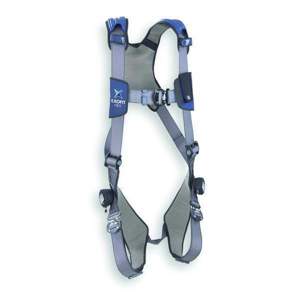 3M Dbi-Sala Full Body Harness,  Vest Style,  L,  Repel(TM) Polyester,  Gray 1113007