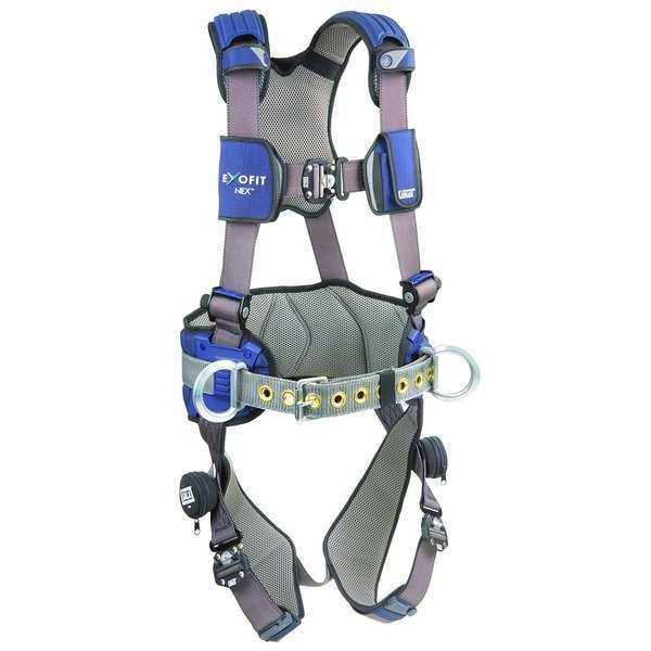 3M Dbi-Sala Full Body Harness,  Vest Style,  M,  Repel(TM) Polyester,  Gray 1113124