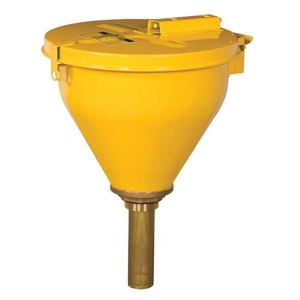 Justrite Closing Funnels, Hinged Cover 08227
