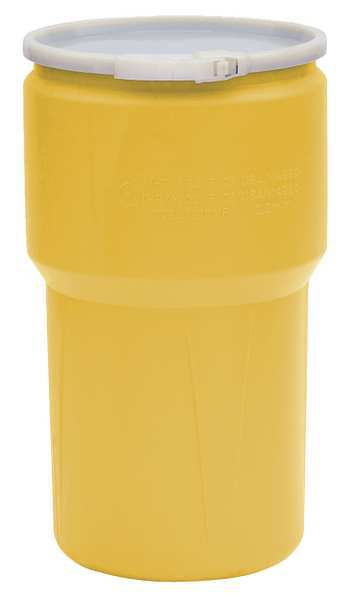 Eagle Transport Drum, Open Head, 14 gal., Yellow 1610