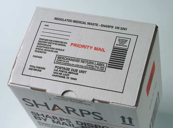 Sharps Compliance Sharps Disposal By Mail, 1/4 Gal., Hinged SW1Q129012