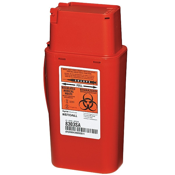 Covidien Sharps Container, 1/4 Gal., PK2 STSC100303