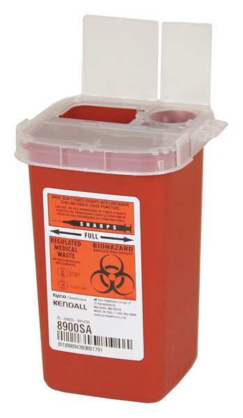 Covidien Sharps Container, 1/4 Gal., Red, PK10 SR1Q100900
