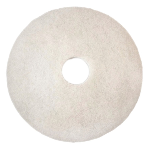 3M Buffing/Cleaning Pad, 20 In, White, PK5 4100
