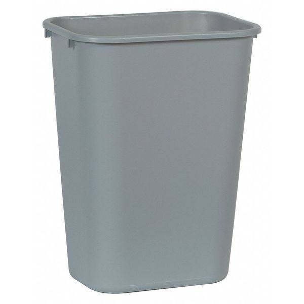 Rubbermaid 10 gal. LLDPE Rectangular Ash/Trash Can ,  Gray FG295700GRAY