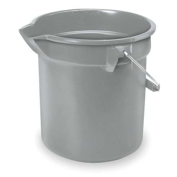 Rubbermaid Brute Bucket, 3-1/2 gal., Gray FG261400GRAY