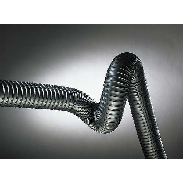 Hi-Tech Duravent Ducting Hose, 3 In. ID, 25 ft. L, Rubber 0658-0300-0001