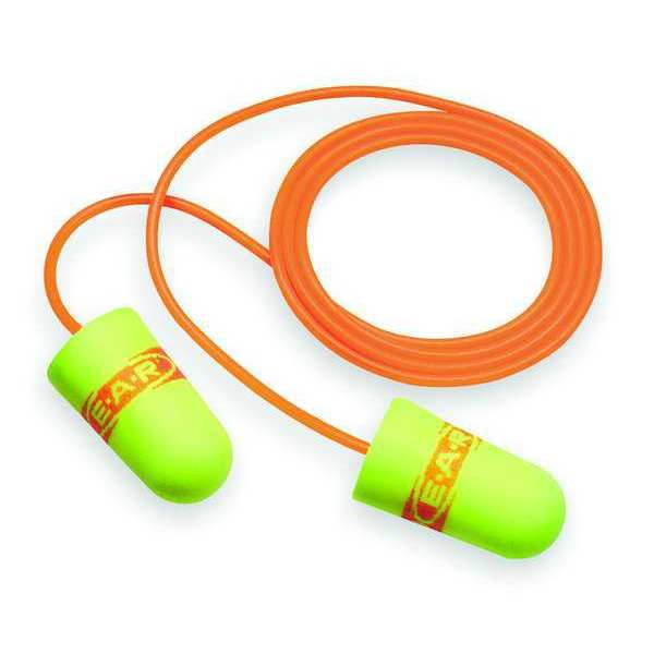 3M E-A-Rsoft™ SuperFit™ Corded Ear Plugs,  33dB Rated,  Tapered Shape,  PK 200 11059