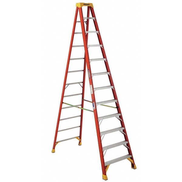 Werner 12 ft Fiberglass Stepladder,  300 lb Capacity 6212