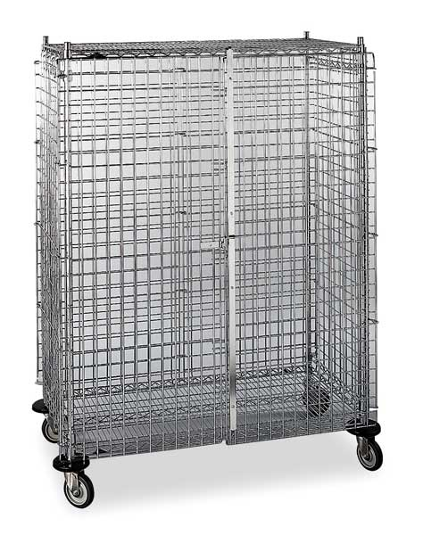 Metro Wire Security Cart with Adjustable Shelves 900 lb Capacity,  53 in L x 3W571