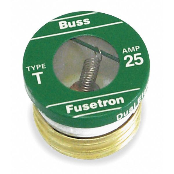 Eaton Bussmann Plug Fuse,  Time Delay,  20A,  T Series,  125V AC,  Not Rated T-20