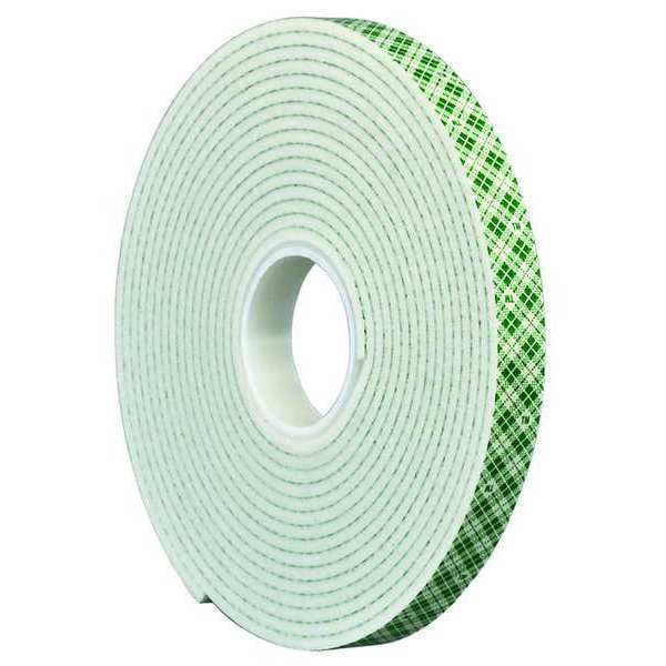 "3M 3M 4016 Double Coated Foam Tape 0.25"" x 5yd,  White 4016"