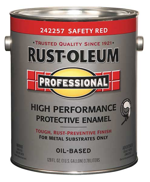 Rust-Oleum 1 gal. Safety Red Glossy Latex Interior/Exterior Paint 242257