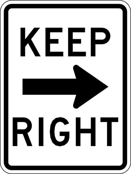 Lyle Traffic Sign, 24 x 18In, BK/WHT, Keep R R4-7A-18HA