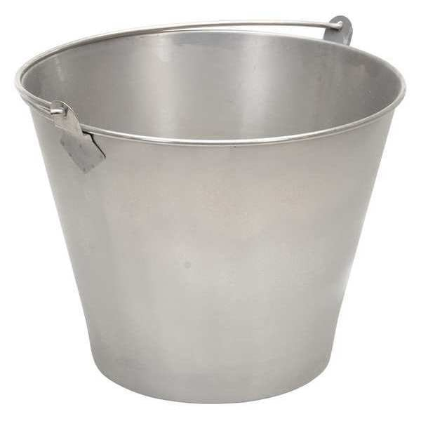 Vestil SS Bucket, Cap 3.25 Gal, With Handle BKT-SS-325