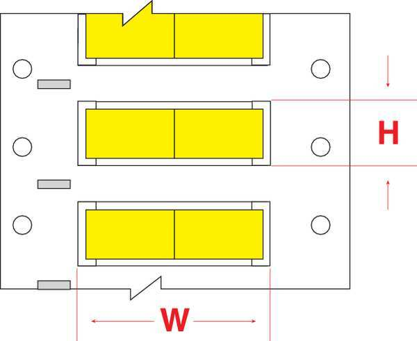 Brady Write On Yellow  Wire Marker Sleeves,  PermaSleeve(R) Polyolefin 3PS-1500-2-YL-2