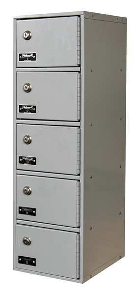 Hallowell Cell Phone Locker, 9inWx12inDx30-1/2inH UCTL192(30)-5A-K-PL