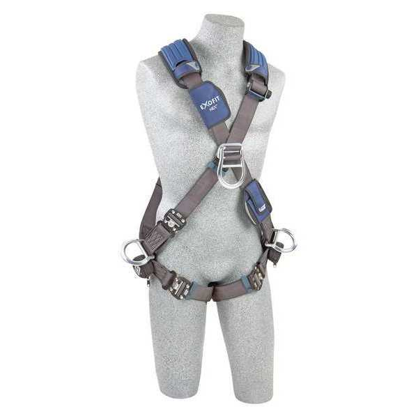 3M Dbi-Sala Full Body Harness,  Crossover Style,  S,  Polyester,  Gray 1113106