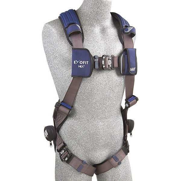 3M Dbi-Sala Full Body Harness,  Vest Style,  2XL,  Repel(TM) Polyester,  Gray 1113013