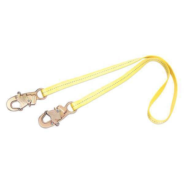 3M Dbi-Sala Lanyard,  2 ft.,  310 lb. Weight Capacity,  Yellow 1231102