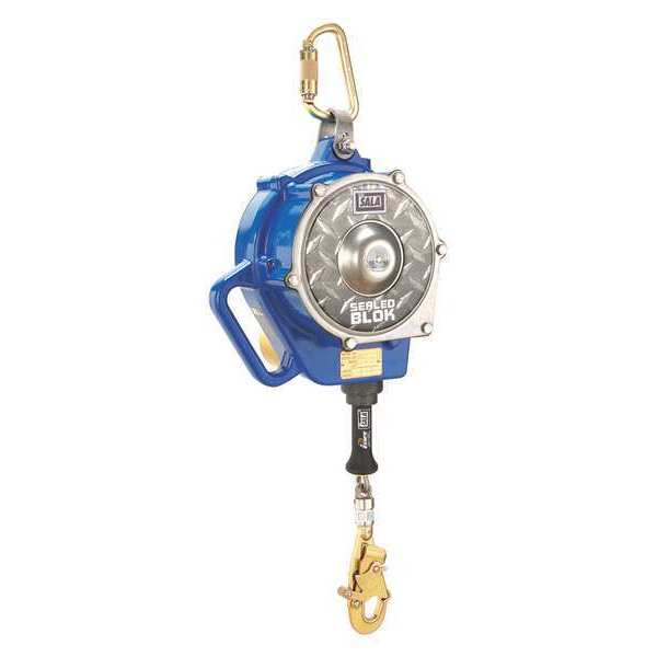 3M Dbi-Sala Self Retracting Lifeline,  50 ft.,  420 lb. Weight Capacity,  Blue/Gray 3400926