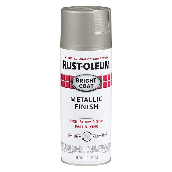 Rust-Oleum Metallic Spray Paint,  Aluminum,  Metallic,  11 oz. 7715830