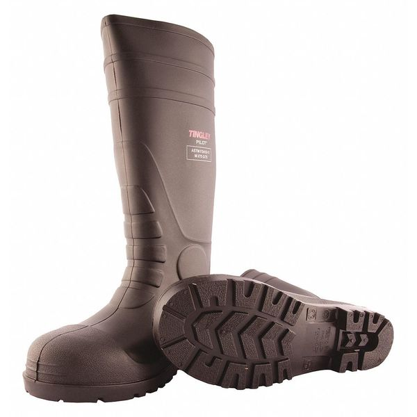 Tingley Size 9 Men's Steel Rubber Boot,  Black 31251