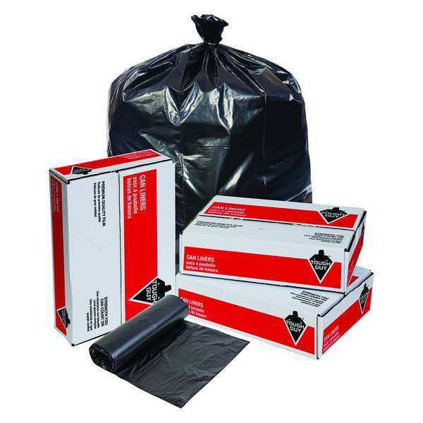 Tough Guy Trash Bags, 40 to 45 gal., 1.10 mil, PK100 31DK75