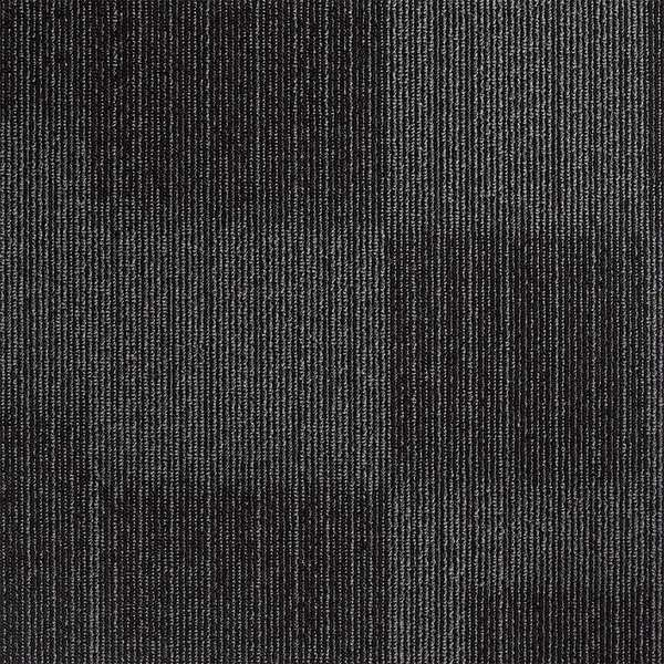 Zoro Select Carpet Tile,  19-11/16in. L,  Charcoal,  PK20,  Height: 9/64 in 31HL77