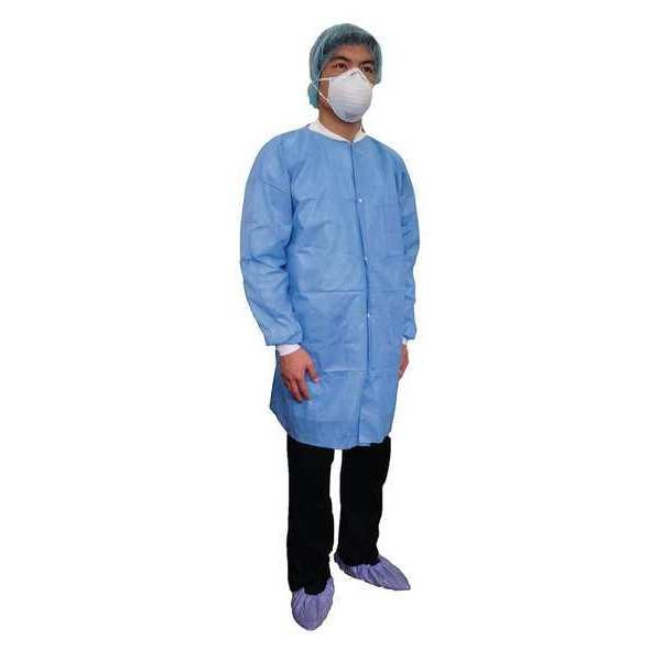 Condor Disposable Lab Coat, Basic SMS, Blue, 3XL 31TV11