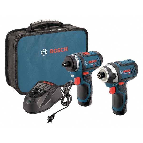 Bosch 12V 2-Tool Driver Combo Kit with Two-Speed Pocket Driver and Impact Driver CLPK27-120