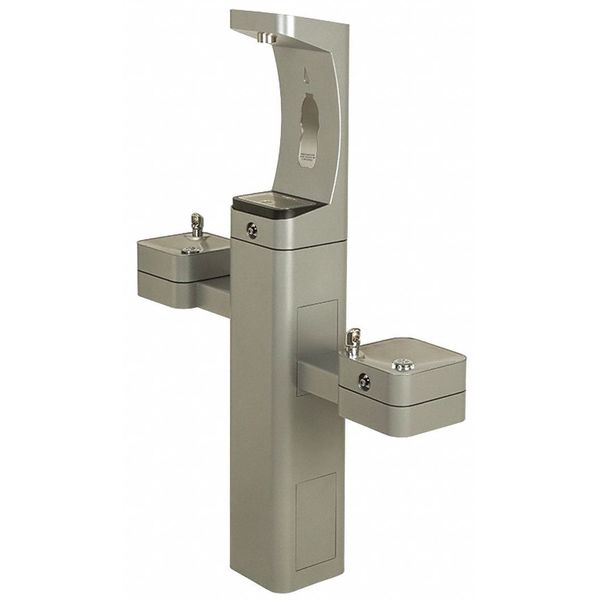 Hydration By Haw ADA SS Freeze Resistant Bottle Filler and Dual Drinking Fountains 3612FR