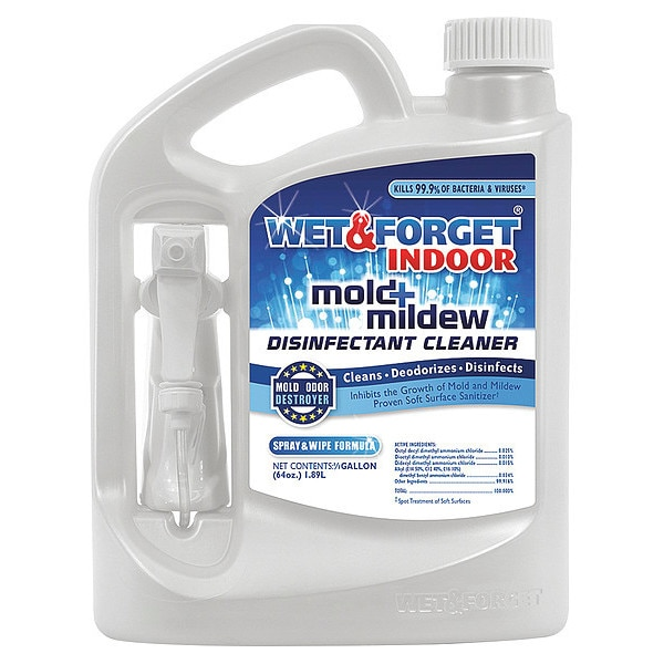 Wet And Forget Indoor Mold and Mildew Disinfectant,  64 oz. Unscented,  Clear 802064