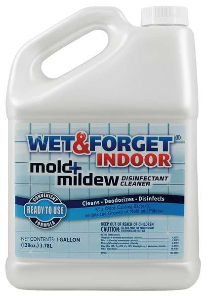 Wet And Forget Indoor Mold and Mildew Disinfectant,  1 gal. Unscented,  Clear 802128