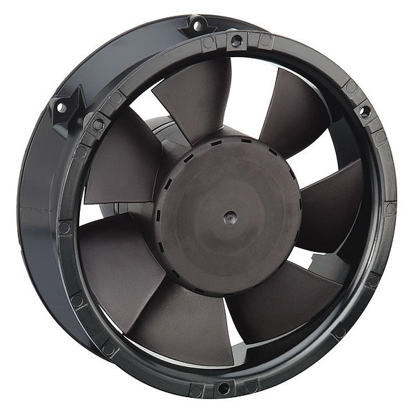 Ebm-Papst Axial Fan,  Round,  24V DC,  1 Phase,  229.5 cfm,  6 49/64 in W. 6224NU