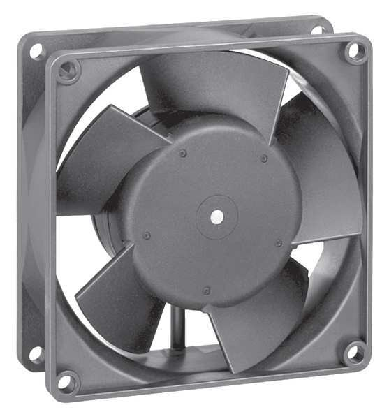 Ebm-Papst Axial Fan,  Square,  24V DC,  1 Phase,  63 cfm,  3 5/8 in W. 3314HU