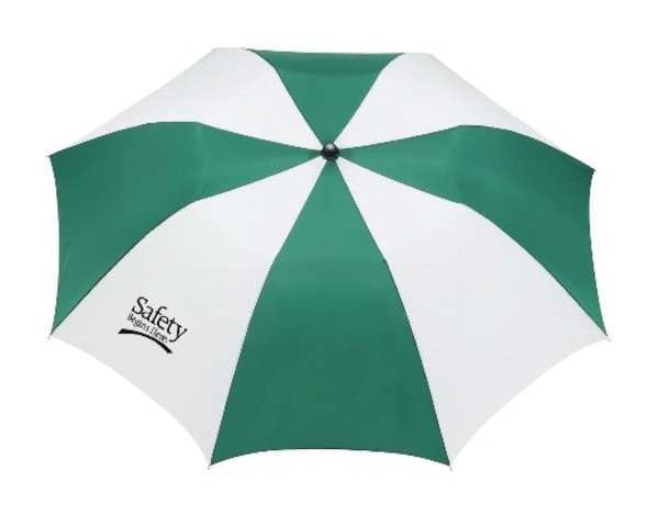 Quality Resource Group Umbrella, 42 in, Green/White, Polyester 9WTC10