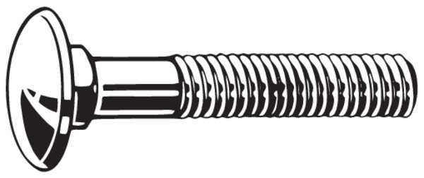 Fabory Carriage Bolt, 5/16-18, 2In, LCS, PK500 B08300.031.0200