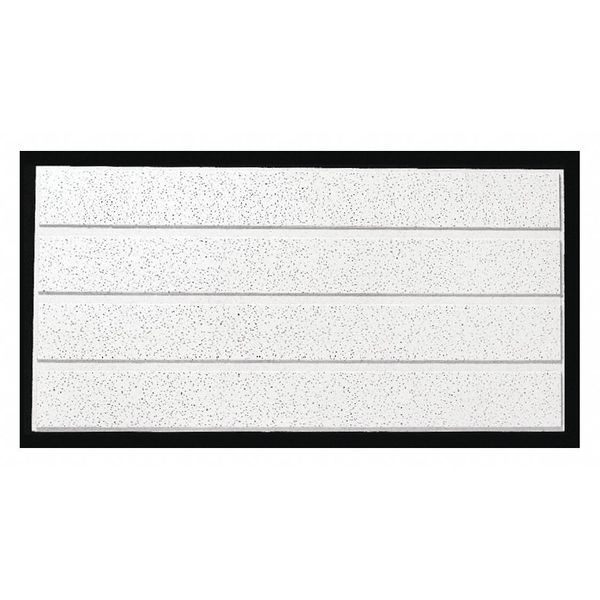 Armstrong Fine Fissured Ceiling Tile,  24 in W x 48 in L ,  PK10 0.5 NRC 1762C