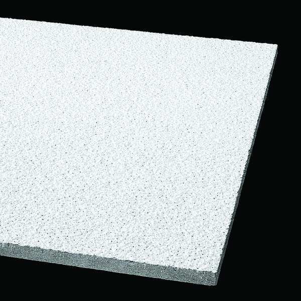 Armstrong Tundra Ceiling Tile,  24 in W x 24 in L ,  PK12 0.5 NRC 303A