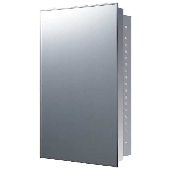 """Ketcham 18"""" x 24"""" Stainless Steel Recessed Mounted SS Framed Medicine Cabinet 174SS"""