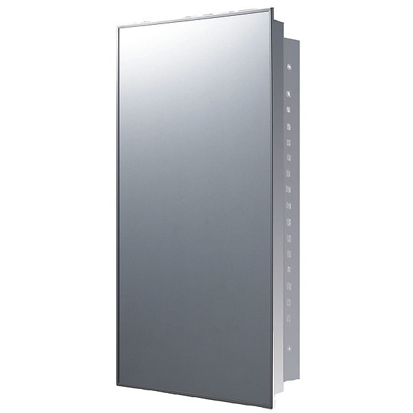 "Ketcham 16"" x 26"" Stainless Steel Recessed Mounted SS Framed Medicine Cabinet 175SS"