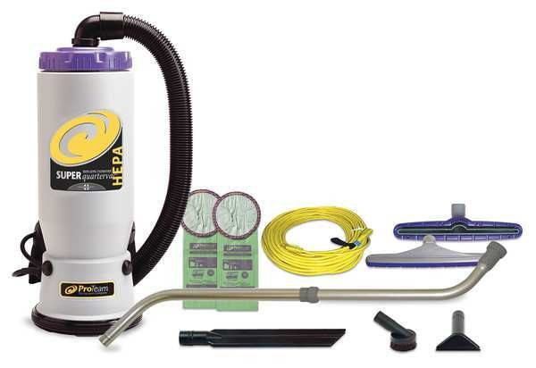 Proteam Super CoachVac 10 qt. Backpack Vacuum w/ Xover Multi-Surface Telescoping Wand Tool Kit 107119