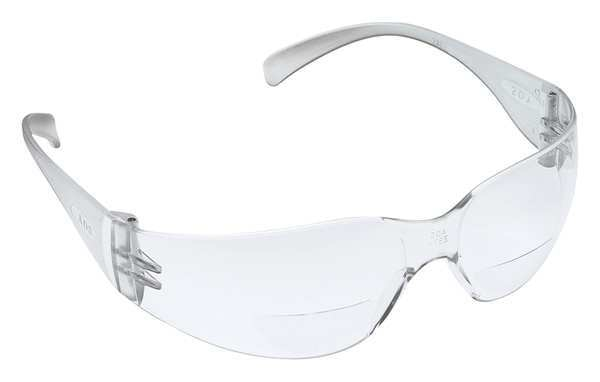 3M Safety Reader Glasses, +2.0, Clear, Antifog 11514-00000-20