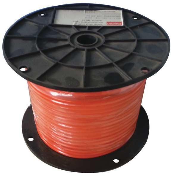 Dayton Cable, 3/32 in., 500 ft, 7 x 7, Orange Vinyl 33RG48